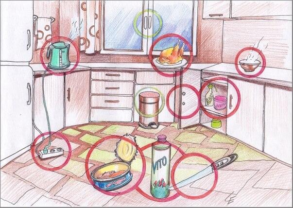 Бульдог на кухне