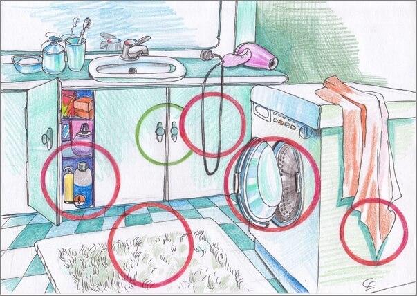 Бульдог в ванной